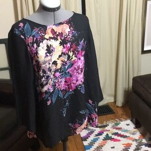 Rose and Olive Floral Blouse